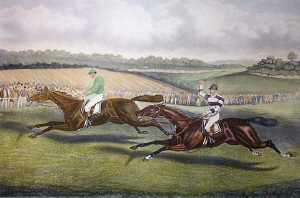 Great Match for 1000 Guineas. Charles Hunt, 1803 - 1877