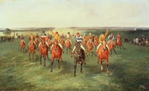 The Finish of the Two Thousand Guineas at Newmarket. Samuel Henry Alken, 1810 - 1894