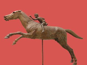 So-called Artemision jockey. Bronze, ca. 140 BC. Recovered from the sea near Cape Artemision in Euboea.